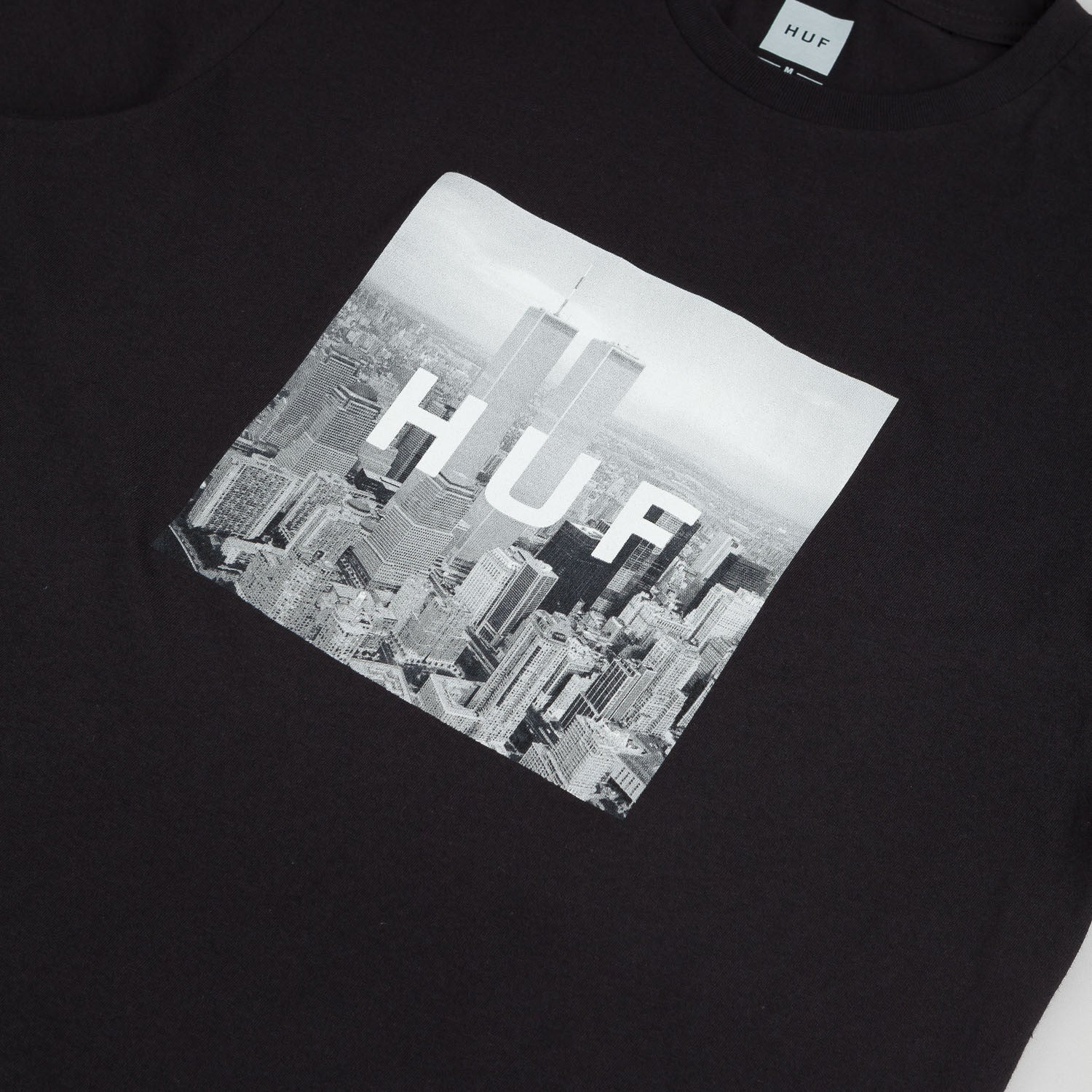 HUF New York Box Logo T-Shirt - Black
