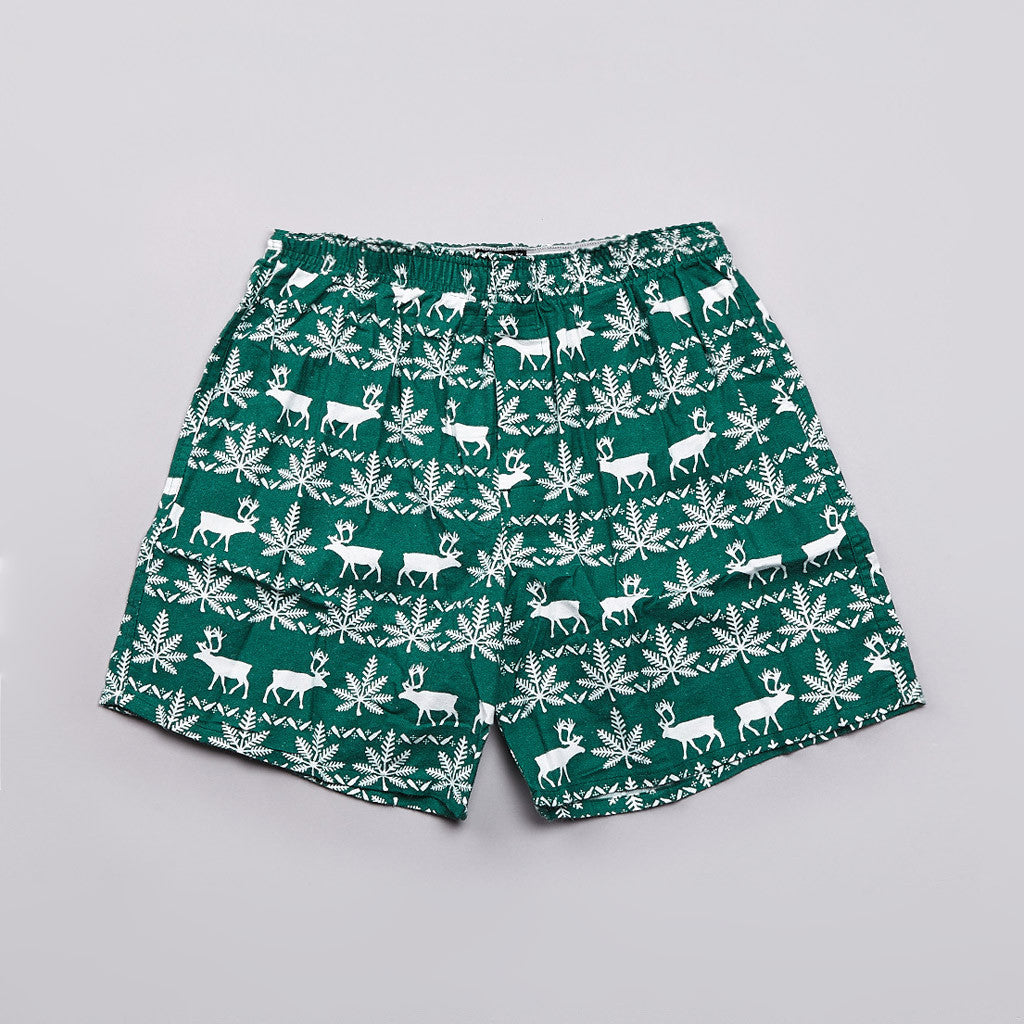 Huf Nordic Flannel Boxers Green