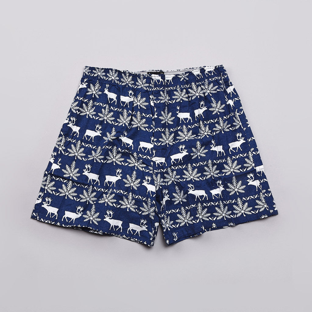 Huf Nordic Flannel Boxers Navy