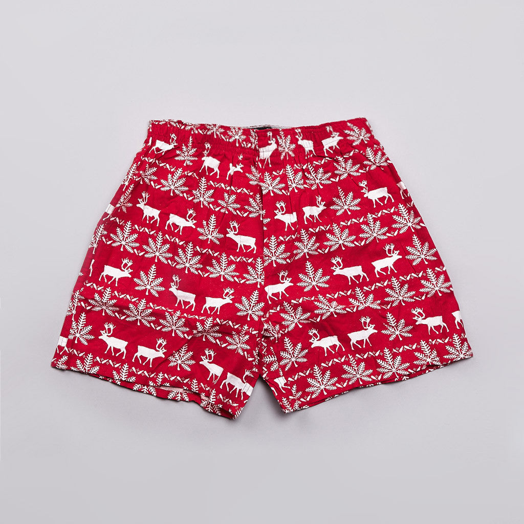 HUF Nordic Flannel Boxers Red