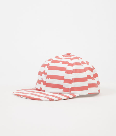 HUF Offset Stripe 6 Panel Cap - Salmon
