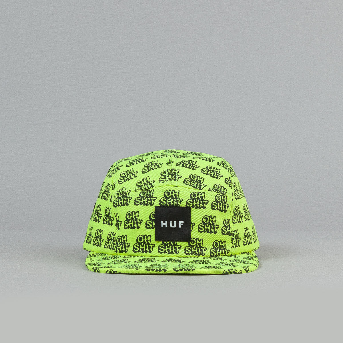HUF Oh Shit 5 Panel Cap Yellow / Black