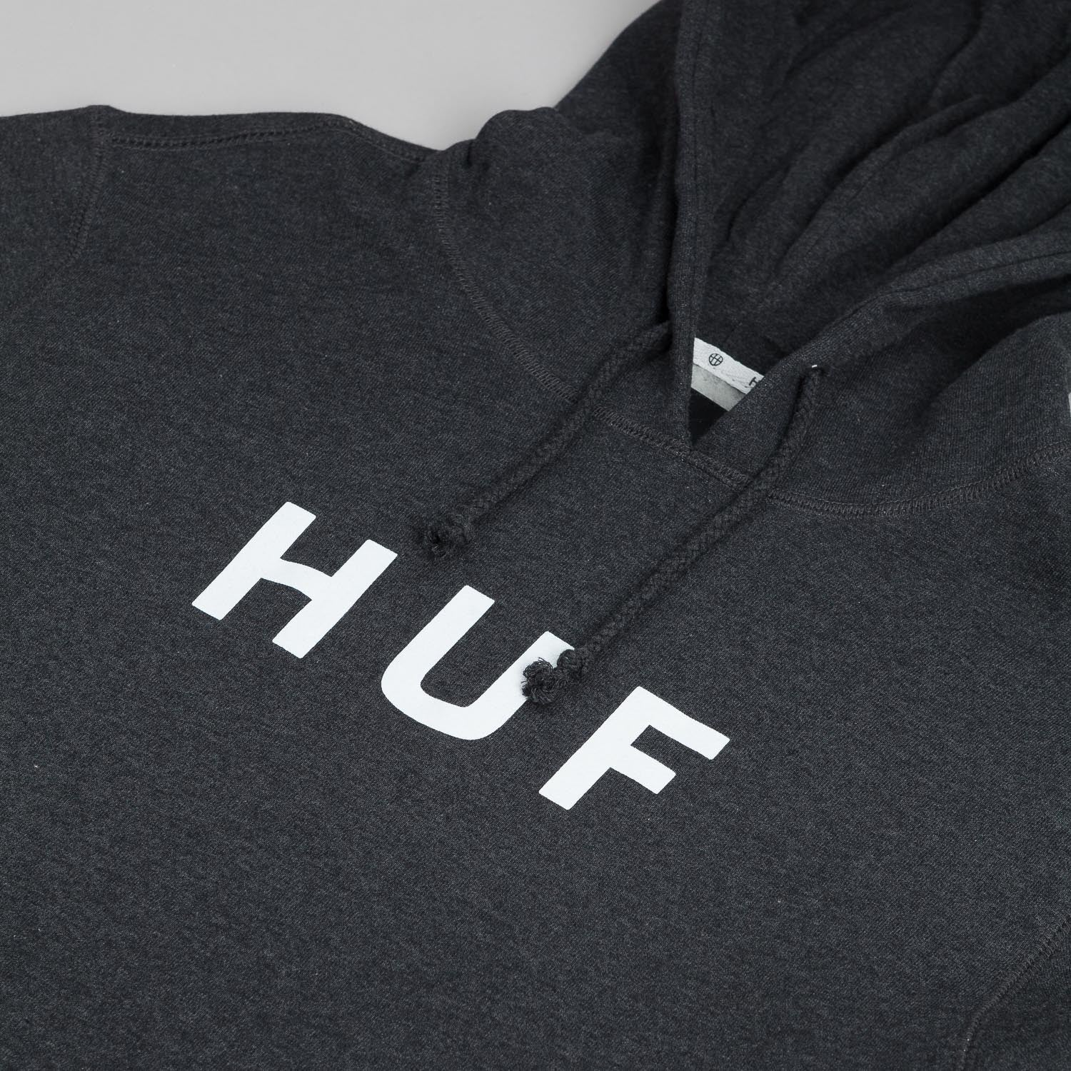 HUF Original Logo Hooded Sweatshirt - Charcoal Heather