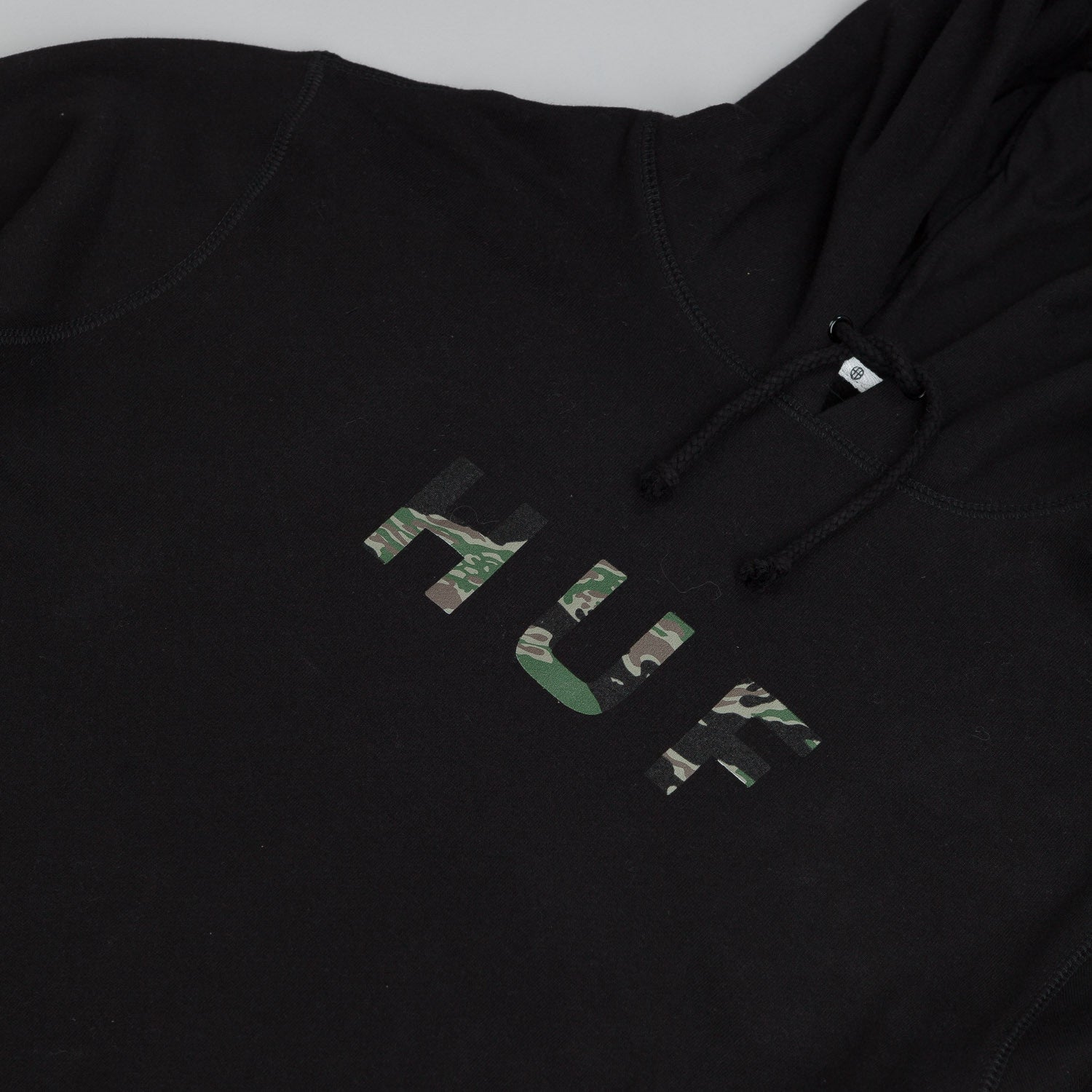 HUF Original Logo Tiger Camo Hooded Sweatshirt Black