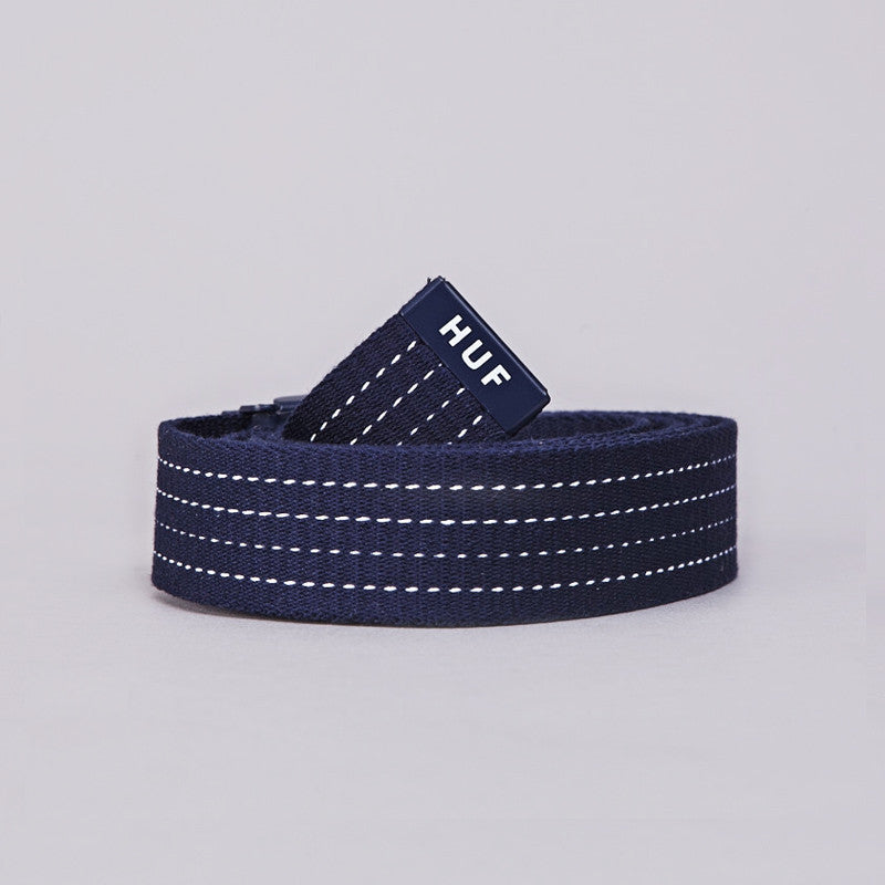HUF Original Logo Scout Belt Navy