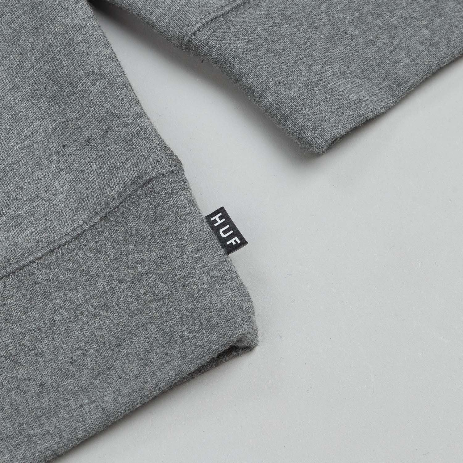 HUF Pigeon Gang Zip Hooded Sweatshirt Grey Heather