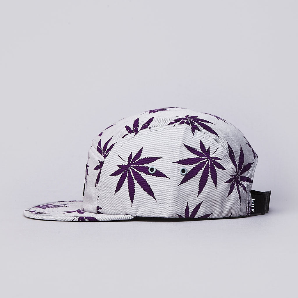 HUF Plantlife 5 Panel Cap Heather Grey