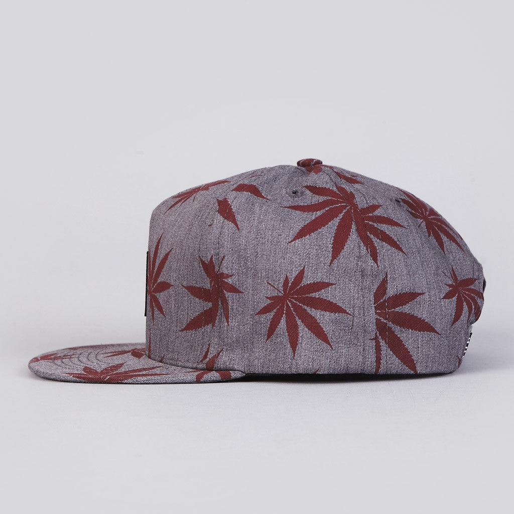 HUF Plantlife Box Logo Snapback Cap Heather Grey