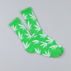 HUF Plantlife Crew Socks Lime / White