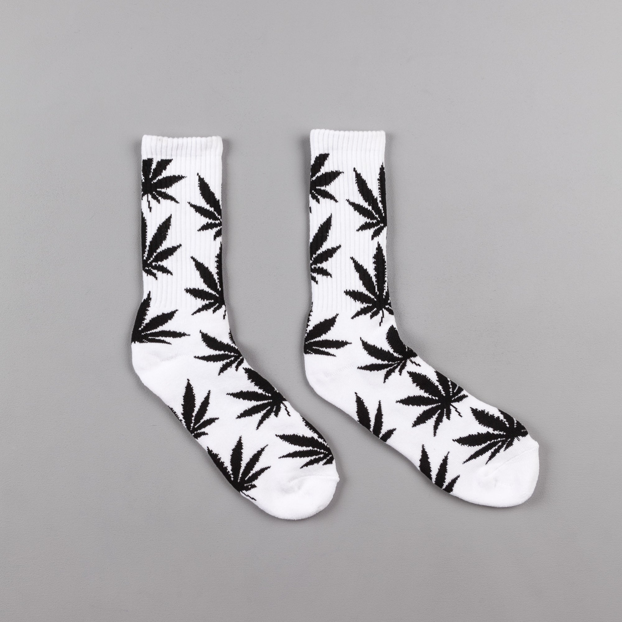 HUF Plantlife Crew Socks - White / Black