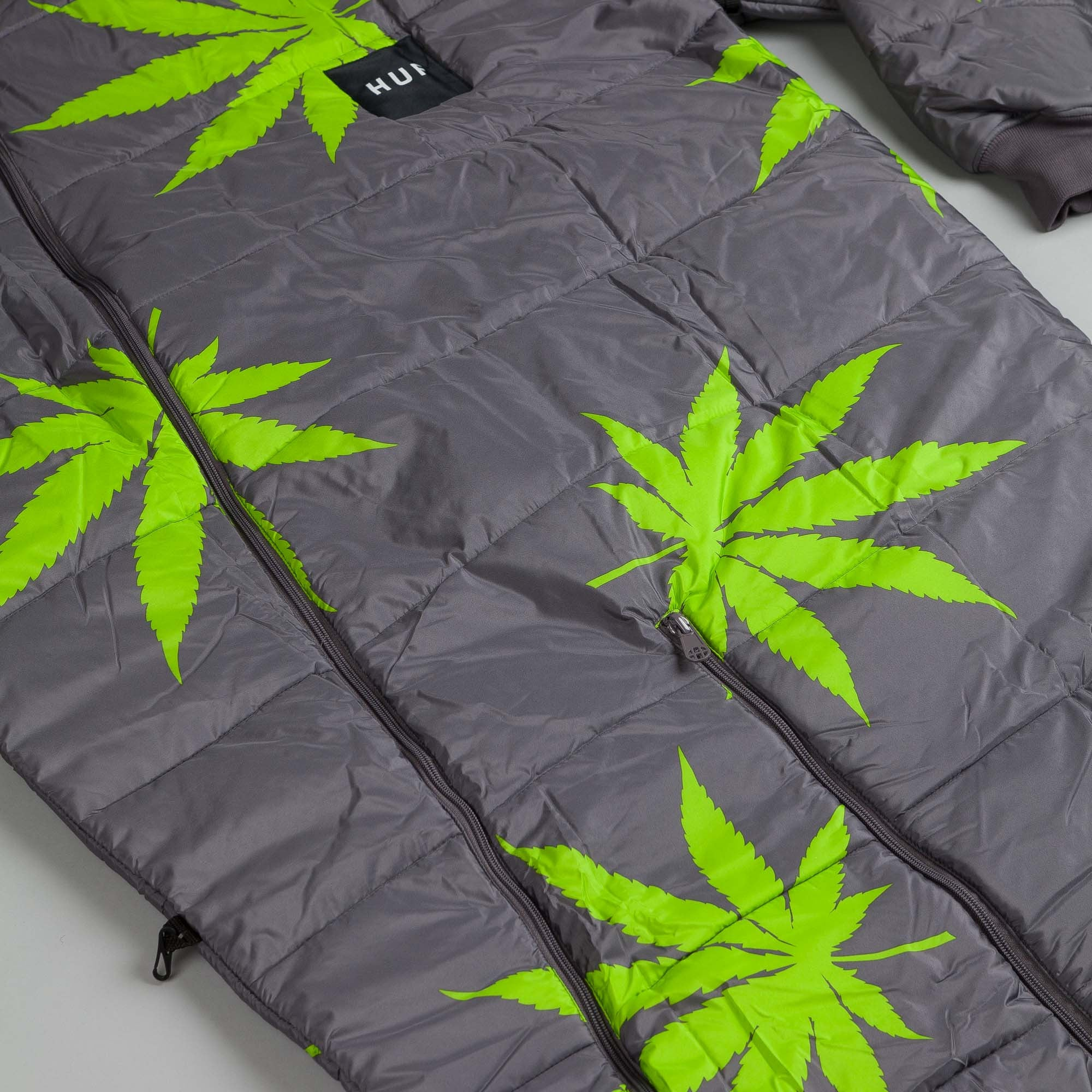 HUF Plantlife Sleeping Bag Grey / Lime