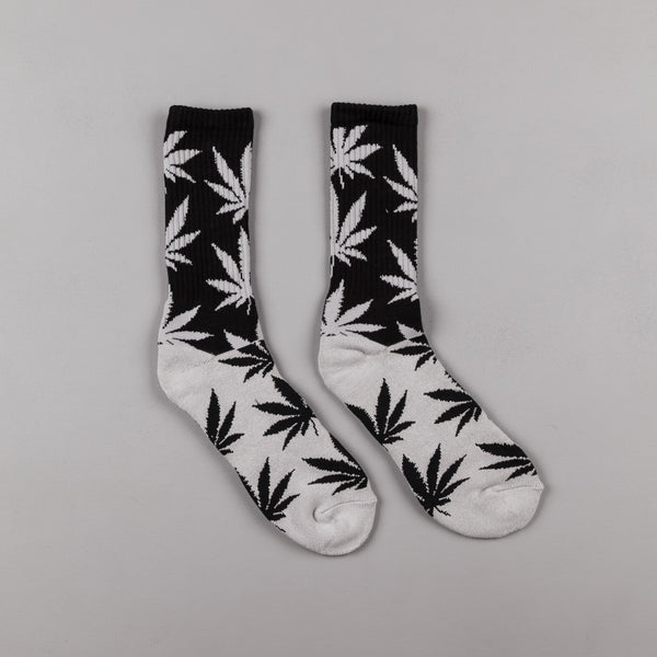 HUF Colour Block Plantlife Crew Socks - Black / Grey