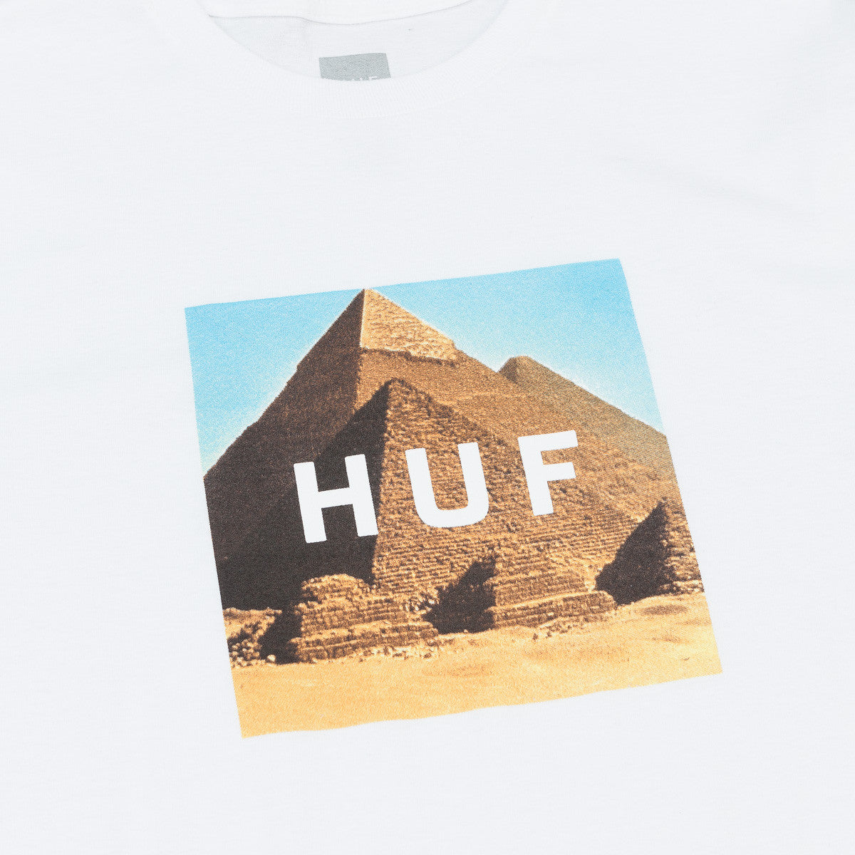 HUF Pyramids Box Logo T-Shirt - White