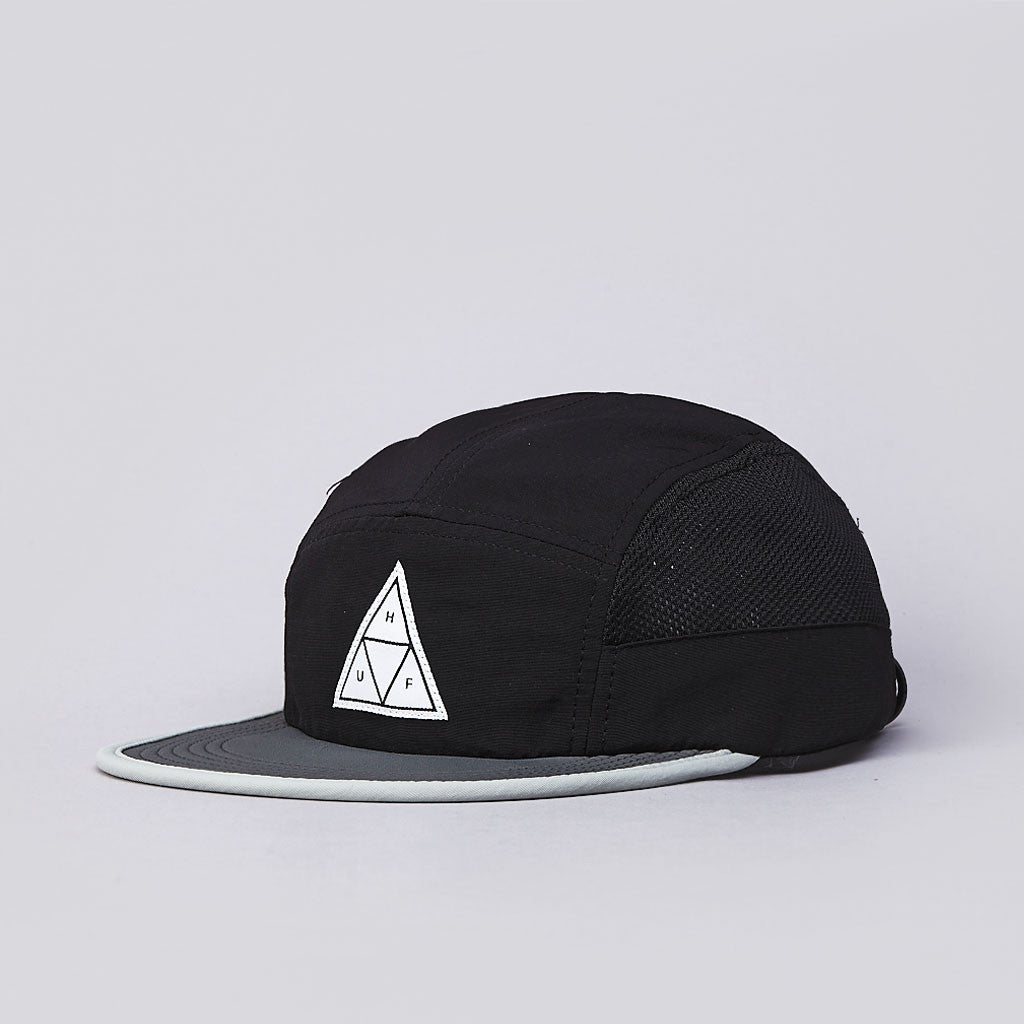 Huf Scout 5 Panel Volley Cap Black / Grey
