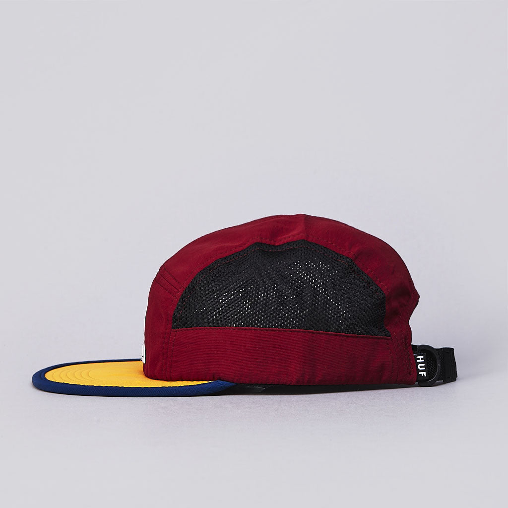 HUF Scout 5 Panel Volley Cap Wine / Gold