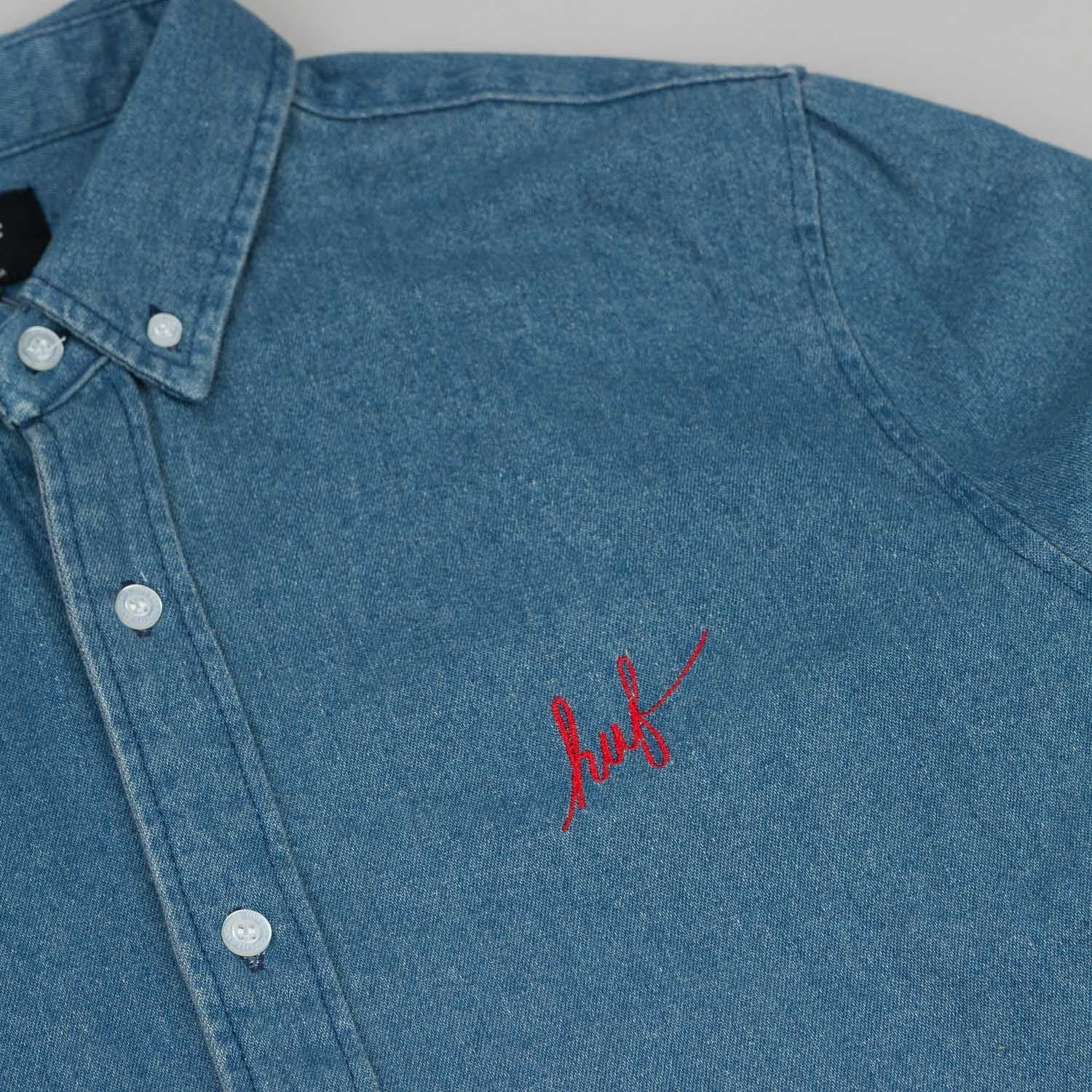 HUF Script Denim L/S Shirt