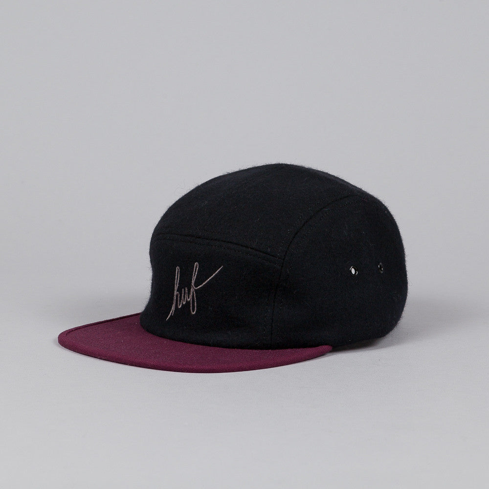 Huf Script Volley Cap Black