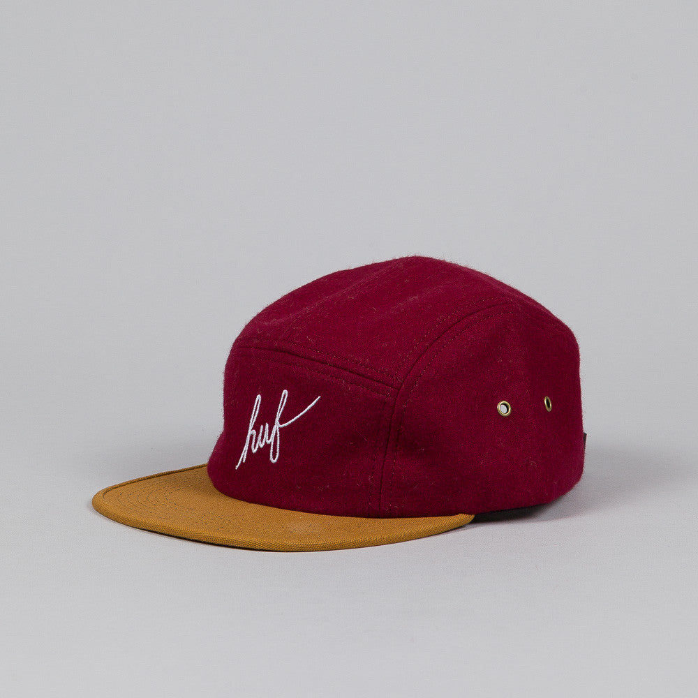 Huf Script Volley Cap Burgundy