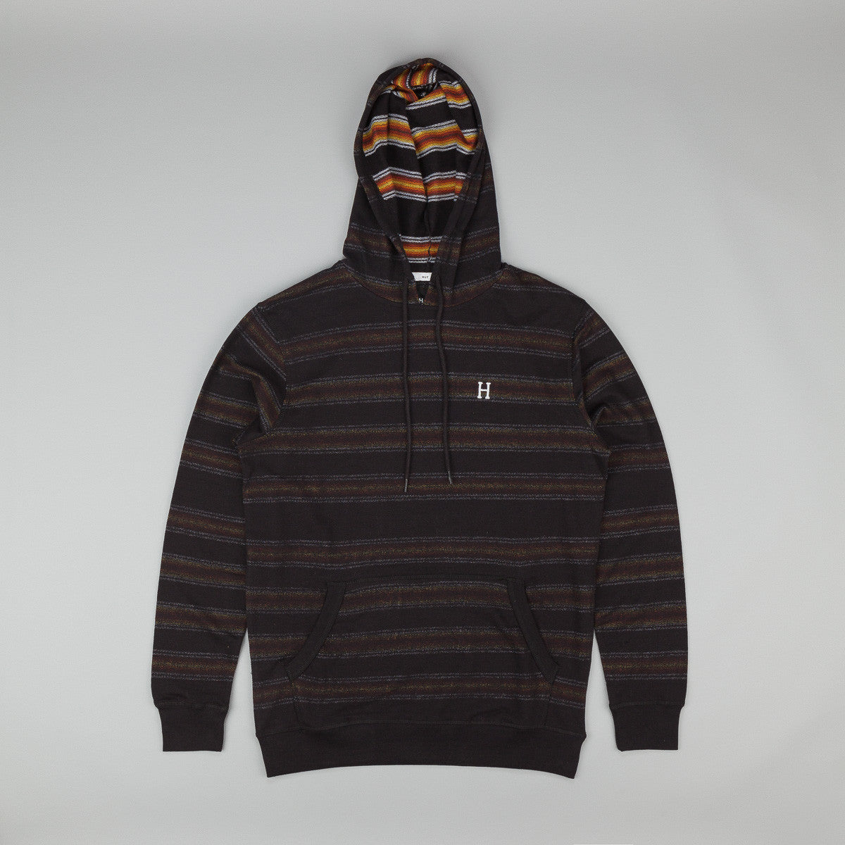 HUF Serape Hooded Pullover Sweatshirt - Black