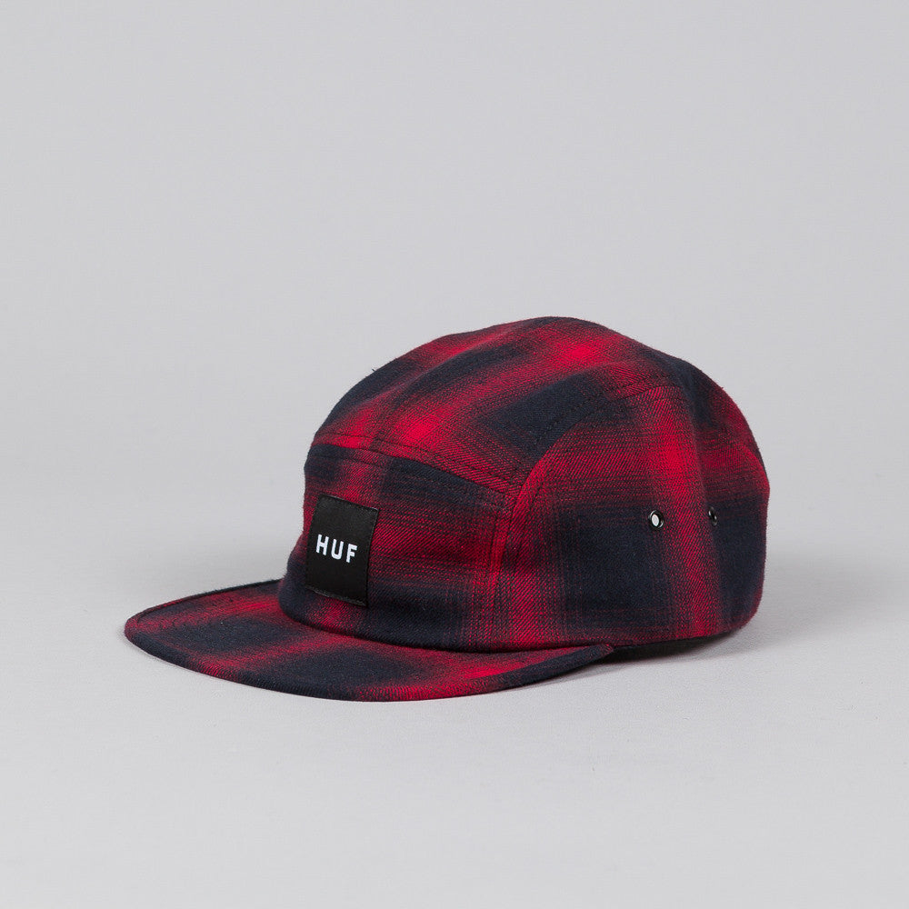 Huf Shadow Plaid Volley Cap Red
