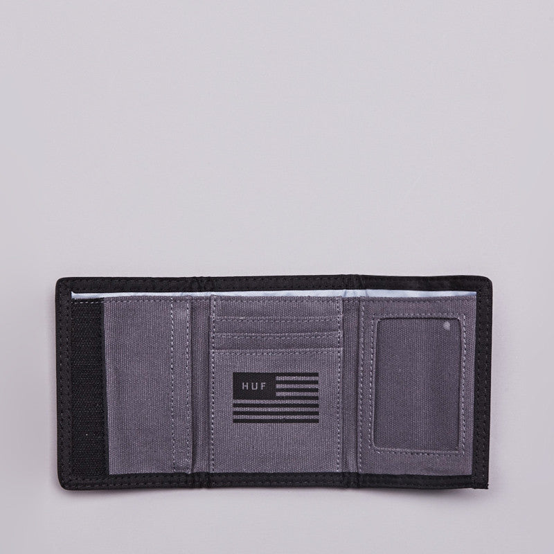 HUF Shell Shock Camo Tri-fold Wallet Black Shell Shock