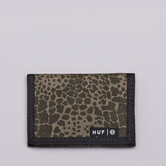 Huf Shell Shock Camo Tri-fold Wallet Olive Shell Shock