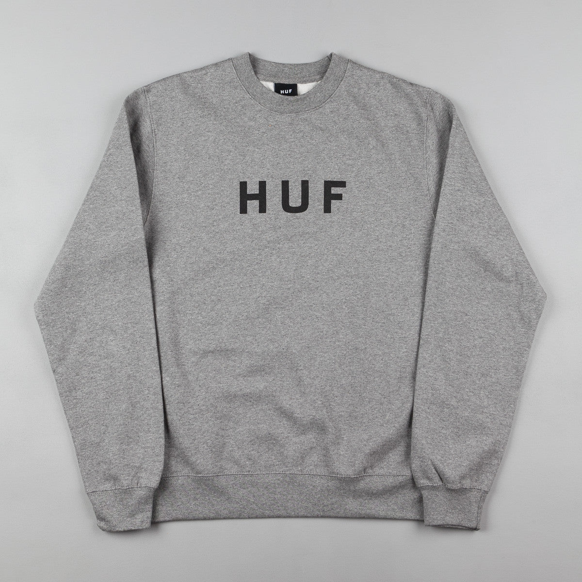 HUF Original Logo Crew Neck Sweatshirt - Heather Grey