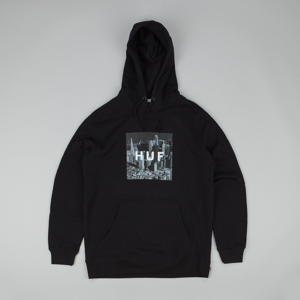 HUF Skyline Box Logo Hooded Sweatshirt - Black