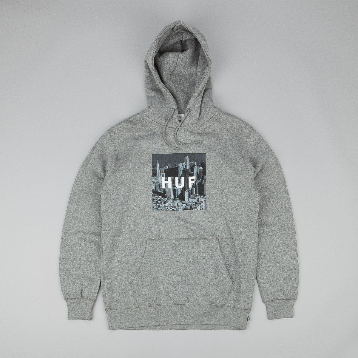 HUF Skyline Box Logo Hooded Sweatshirt - Grey Heather
