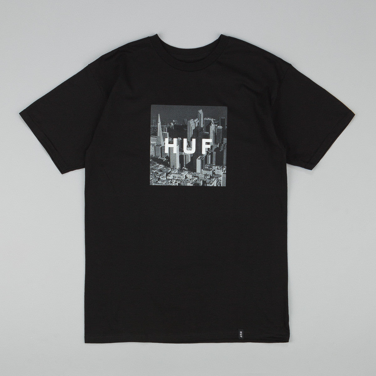 HUF Skyline Box Logo T-Shirt - Black