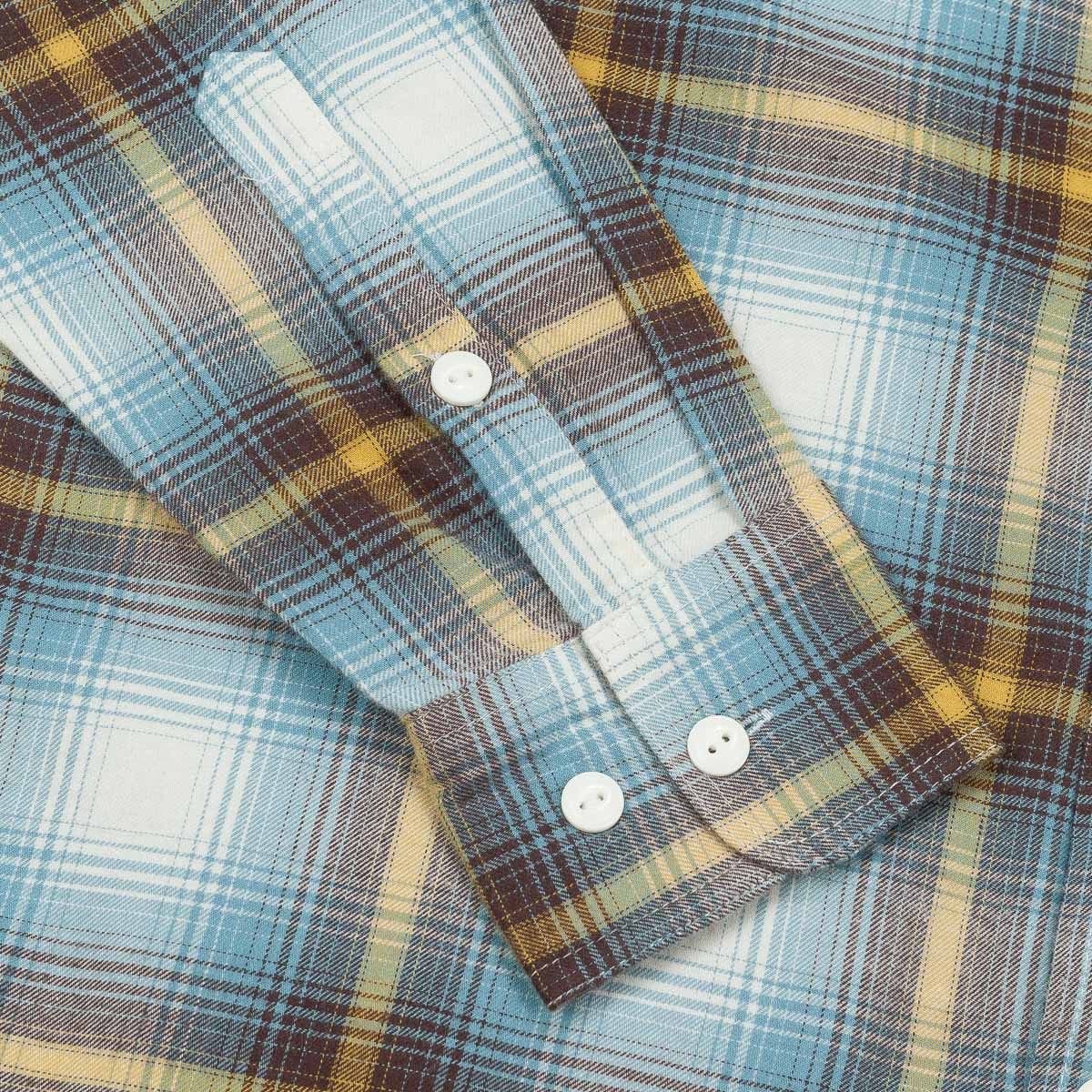HUF Slauson Plaid Long Sleeve Shirt - Blue / Yellow