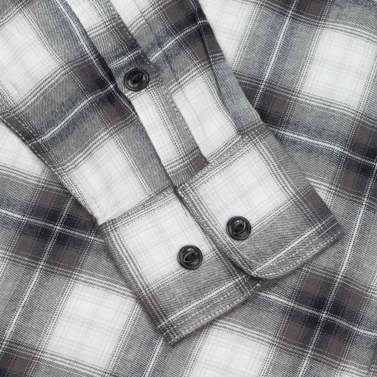 HUF Slauson Plaid Long Sleeve Shirt - Charcoal / White
