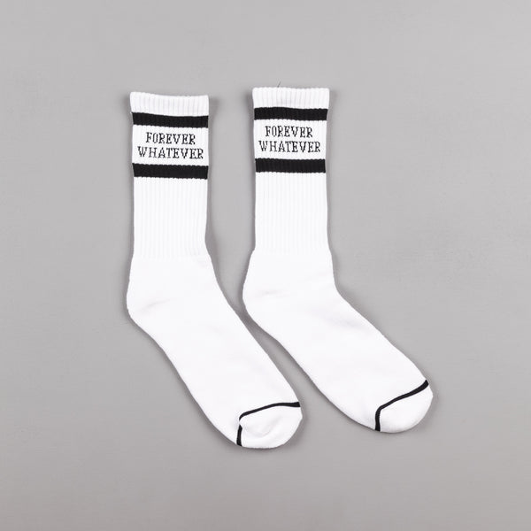 HUF Forever Whatever Crew Socks - White