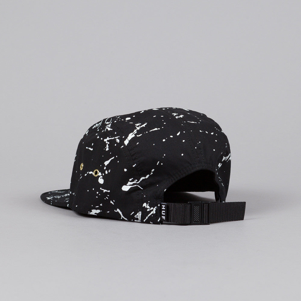 HUF Splatter Metal Triple Triangle Volley Cap Black