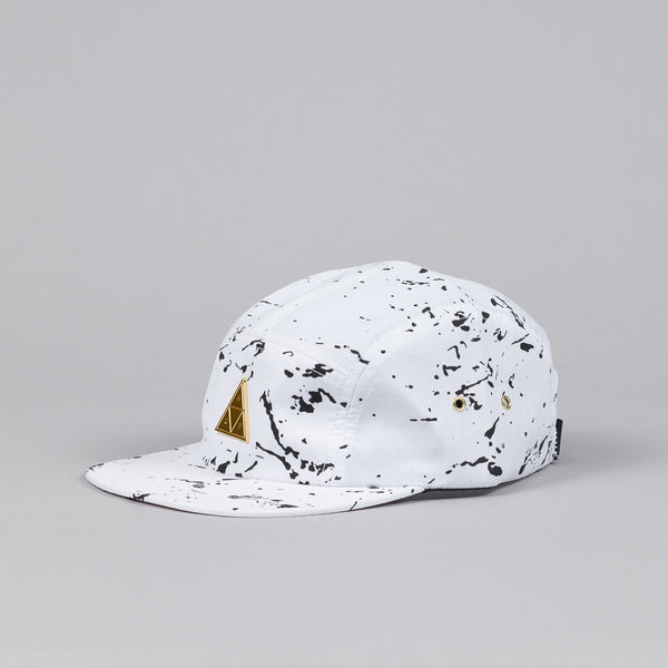 Huf Splatter Metal Triple Triangle Volley Cap White