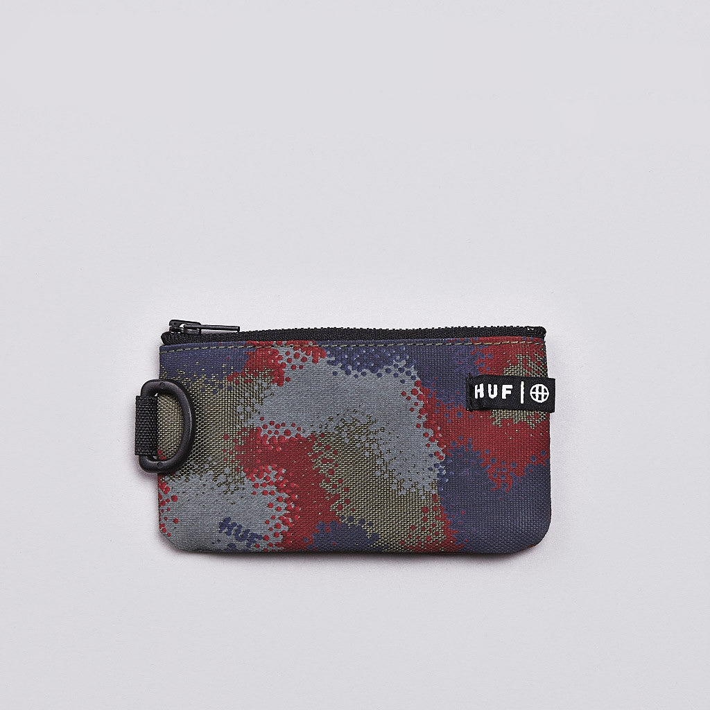 Huf Spray Camo Coin Pouch Black Spray Camo