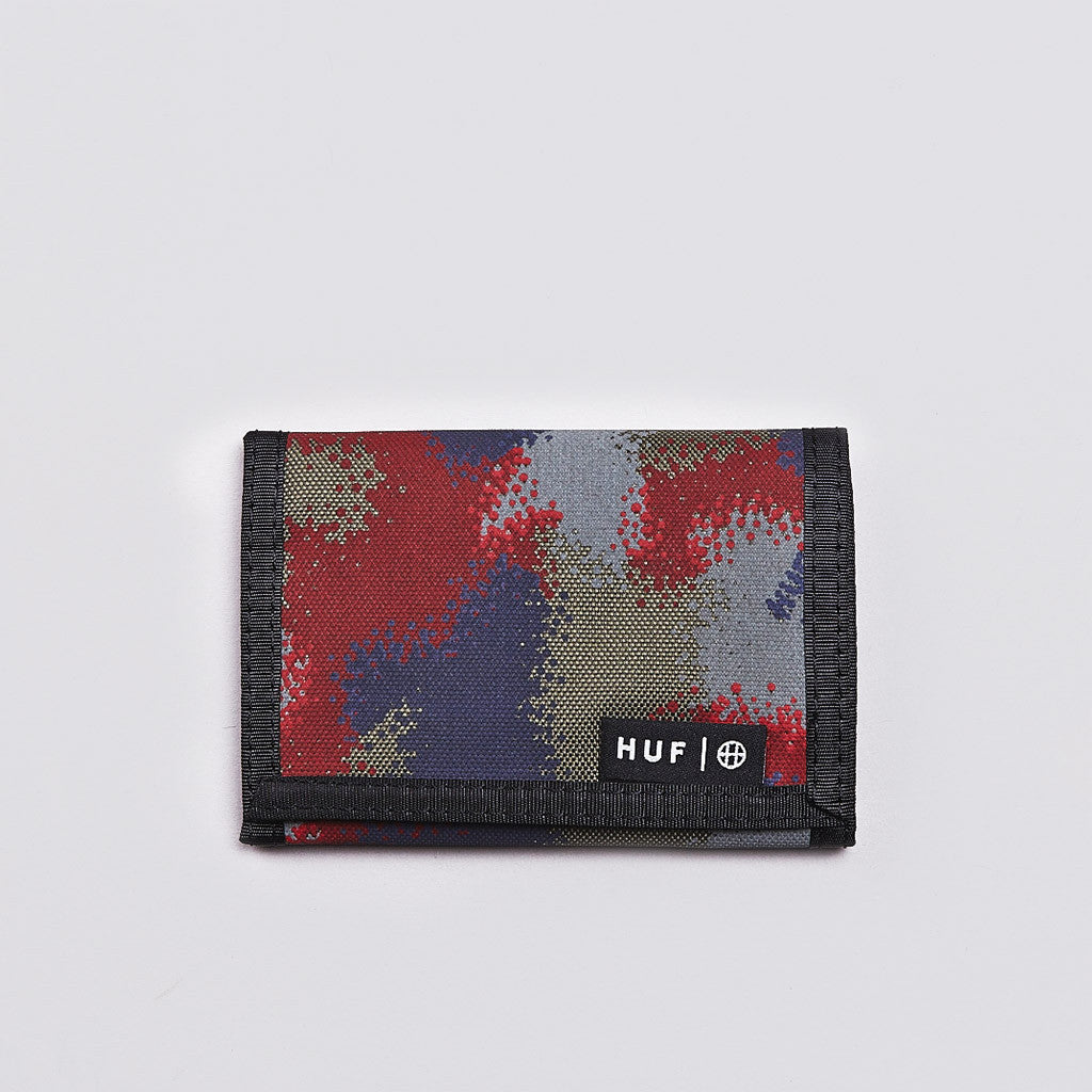 Huf Spray Camo Tri-fold Wallet Black Spray Camo