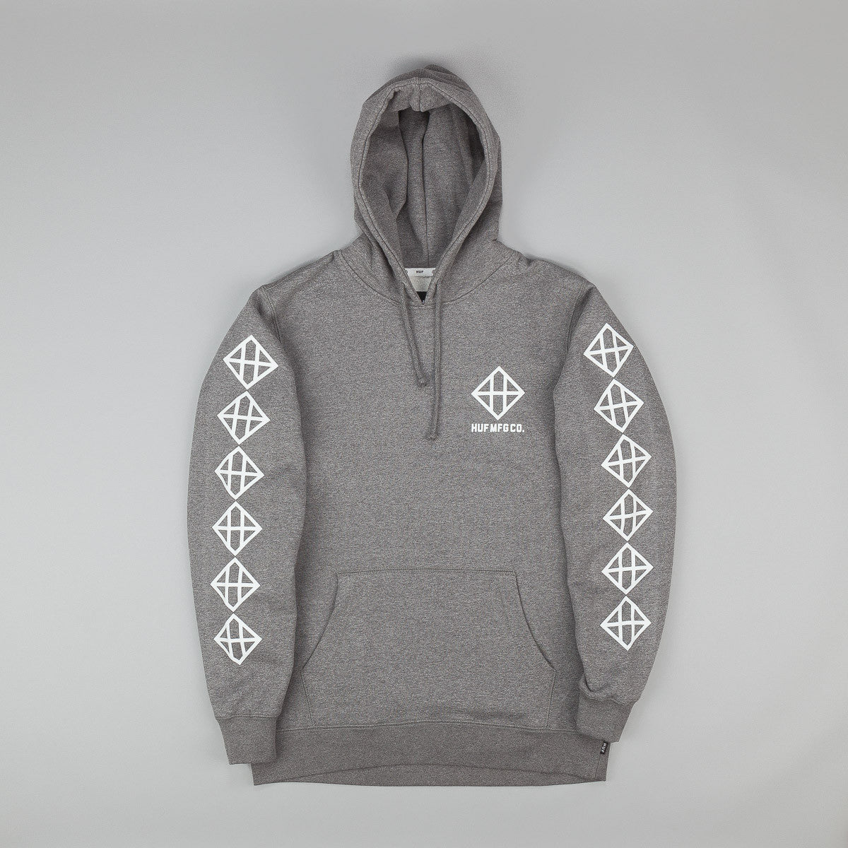 HUF Squared up Pullover Hooded Sweatshirt - Heather Grey