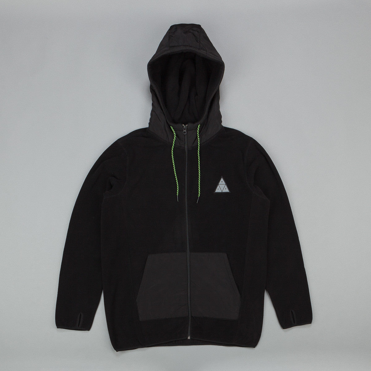 Huf Stanton Polar Fleece Zip Up Hooded Sweatshirt