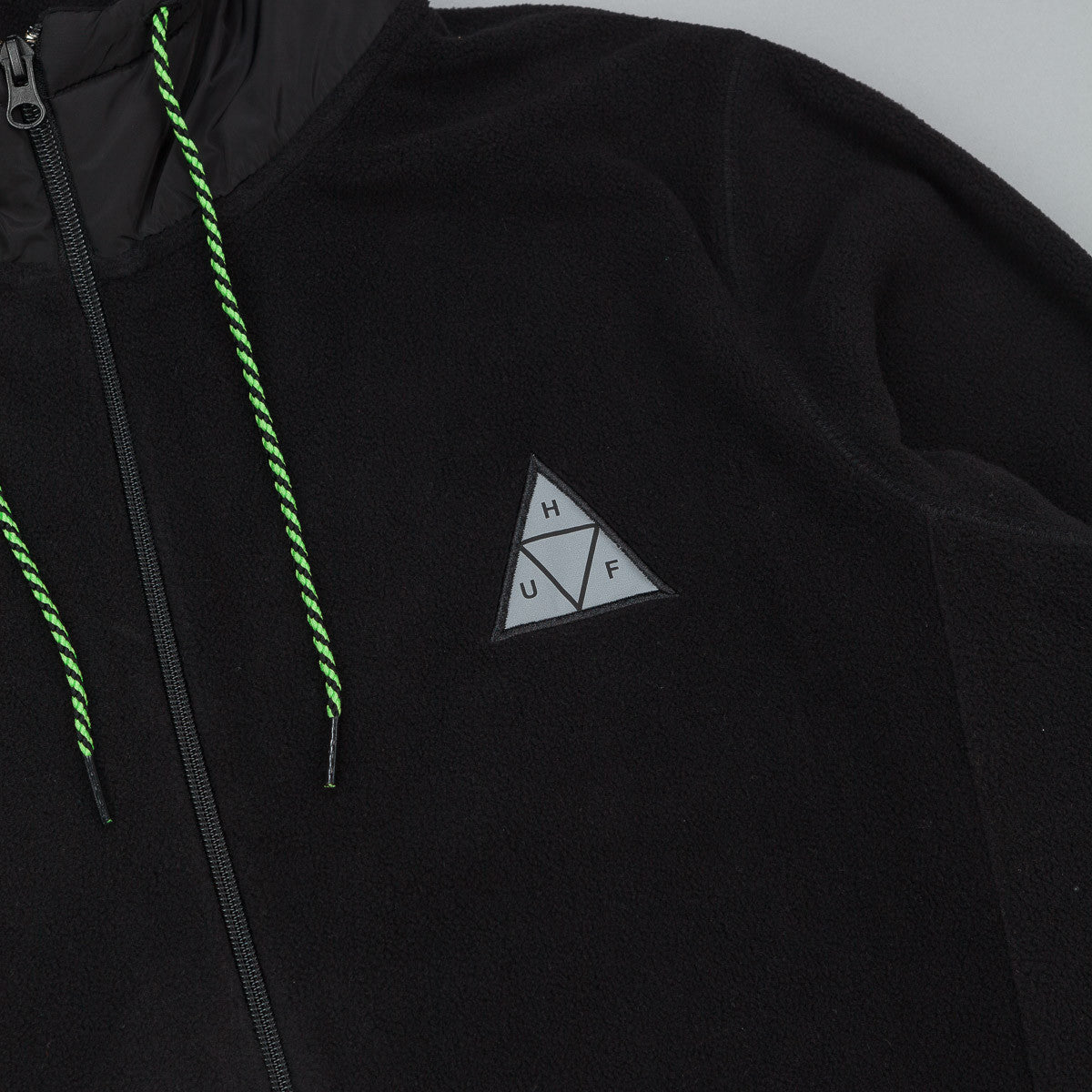 HUF Stanton Polar Fleece Zip Up Hooded Sweatshirt - Black