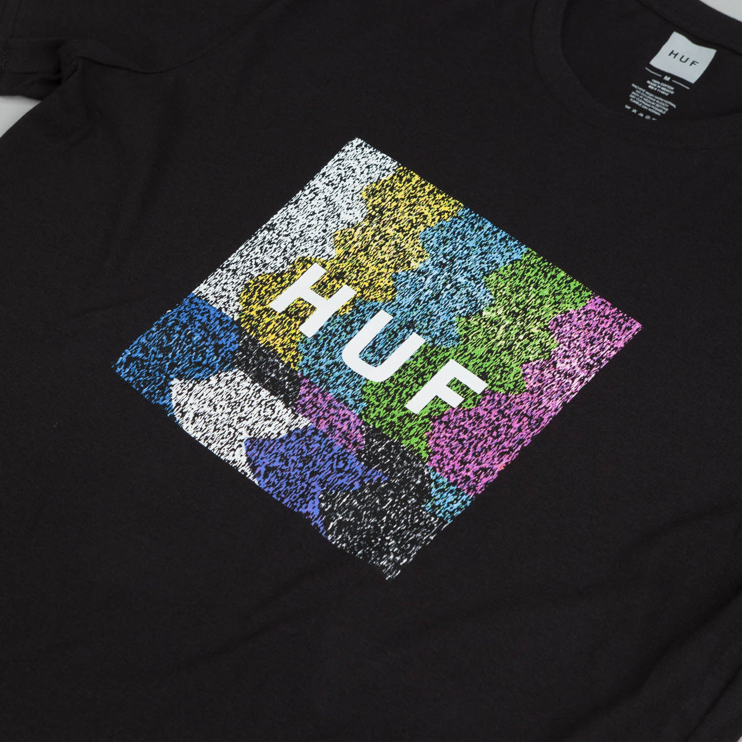 HUF Static Box Logo T Shirt Black