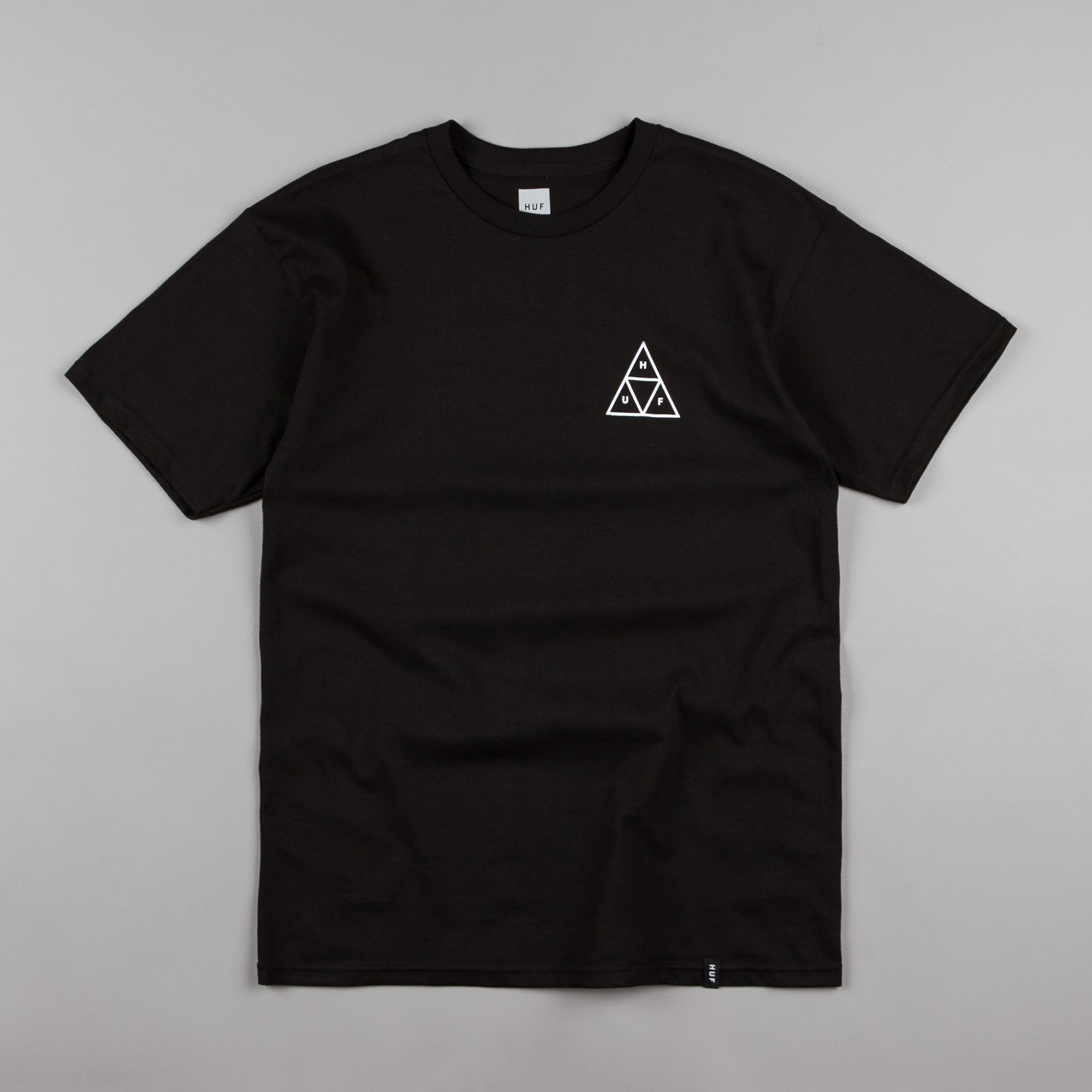 HUF Street Ops Camo Triple Triangle T-Shirt - Black