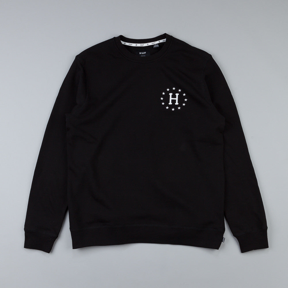 HUF Strike Out Crew Sweatshirt Black