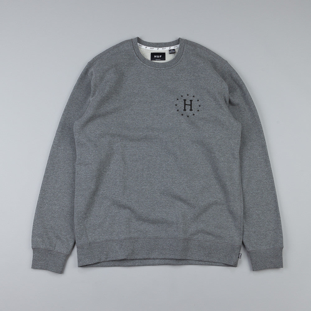 HUF Strike Out Crew Sweatshirt Grey Heather