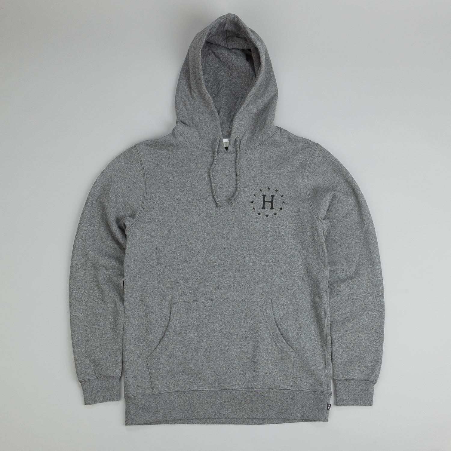 Huf Strike Out Hooded Sweatshirt Grey Heather