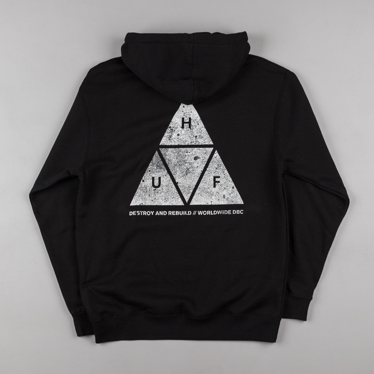 HUF Concrete Triple Triangle Hooded Sweatshirt - Black