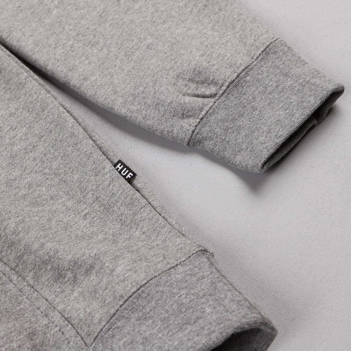 HUF Concrete Box Logo Hooded Sweatshirt - Grey Heather