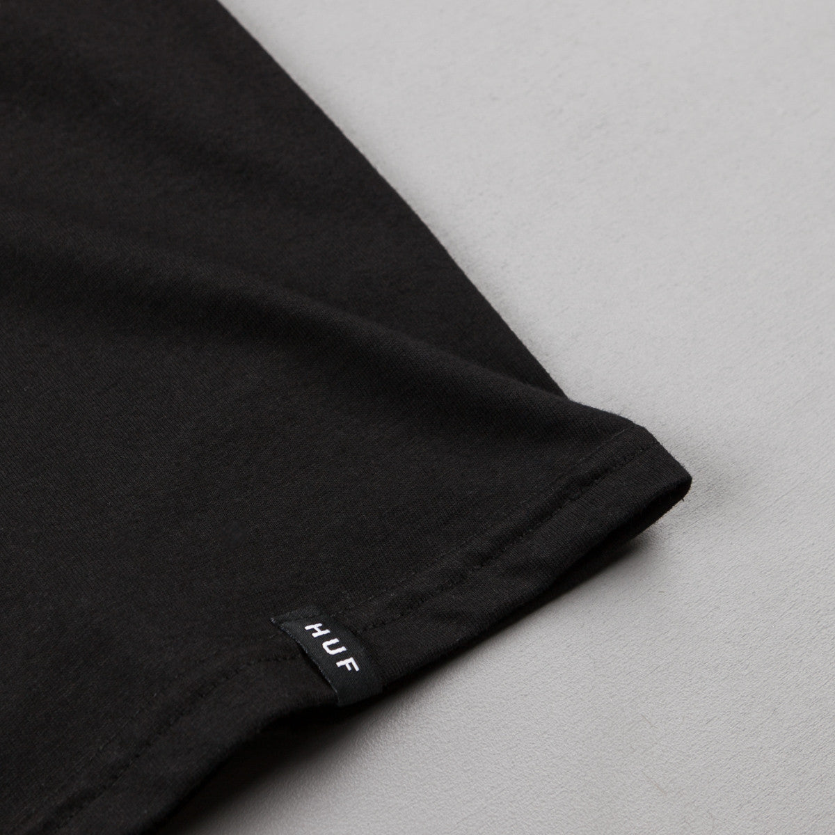 HUF Reflective Bar Logo T-Shirt - Black