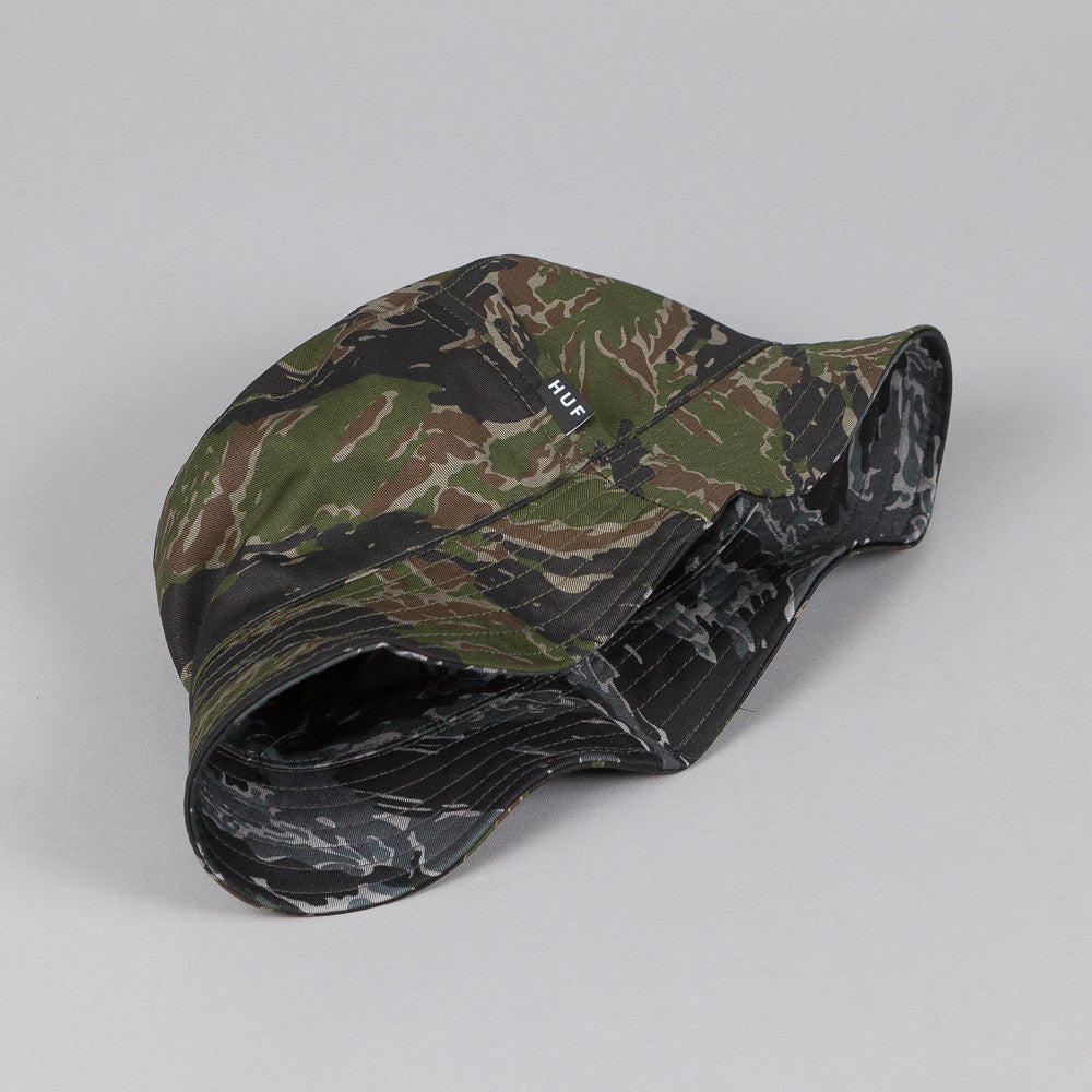 HUF Reversible Tiger Camo Bucket Hat Olive / Black