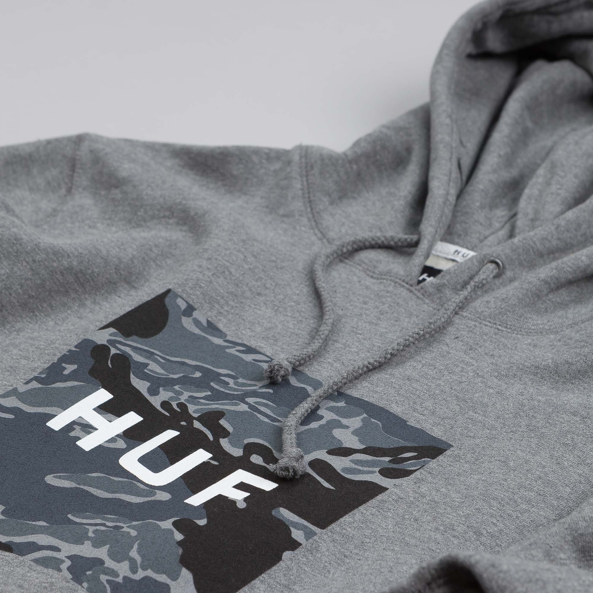 HUF Tiger Camo Hooded Sweatshirt Grey Heather